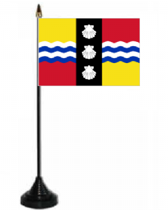 Bedfordshire Desk / Table Flag with plastic stand and base.